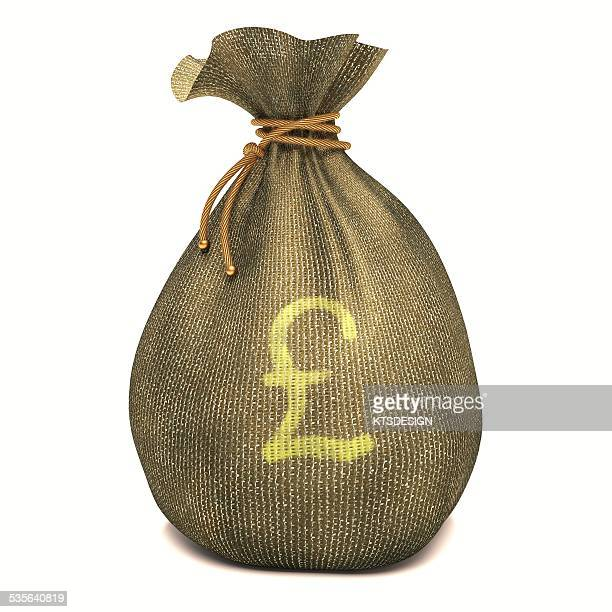 Bag with British pound sign, illustration