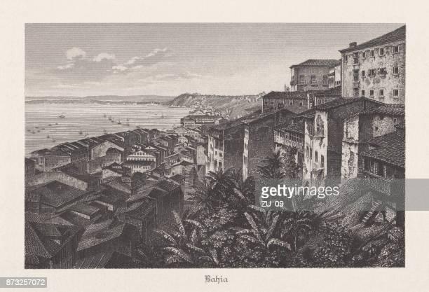 ilustrações, clipart, desenhos animados e ícones de baiha, brasil, gravura de aço, publicado em 1889 - história
