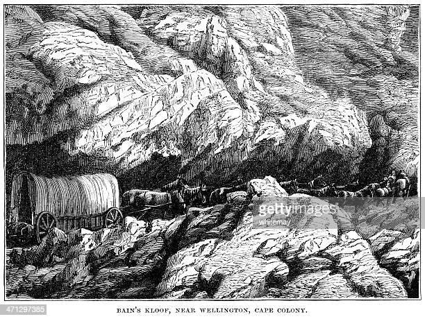 Bain's Kloof, near Wellington, Cape Colony (1882 engraving)
