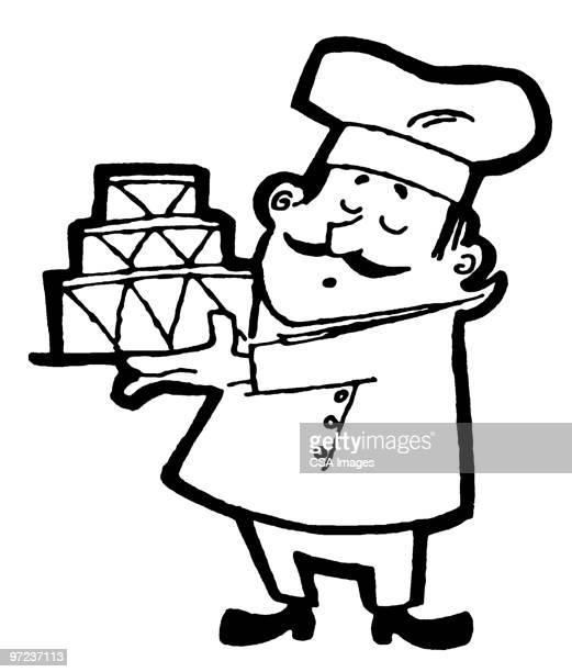baker - baker occupation stock illustrations
