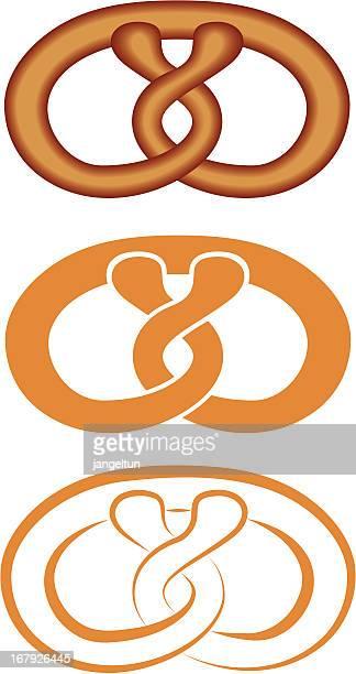 bakery icon - pretzel stock illustrations, clip art, cartoons, & icons