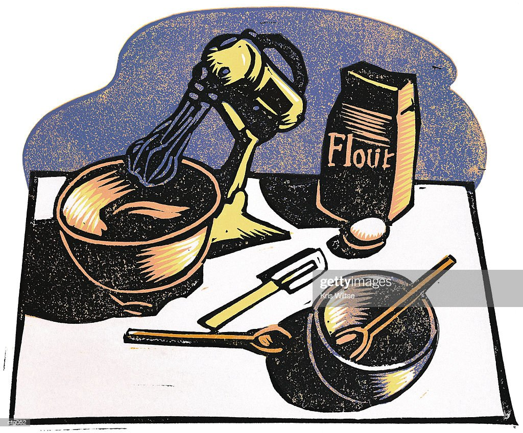 Baking Supplies Stock Illustration