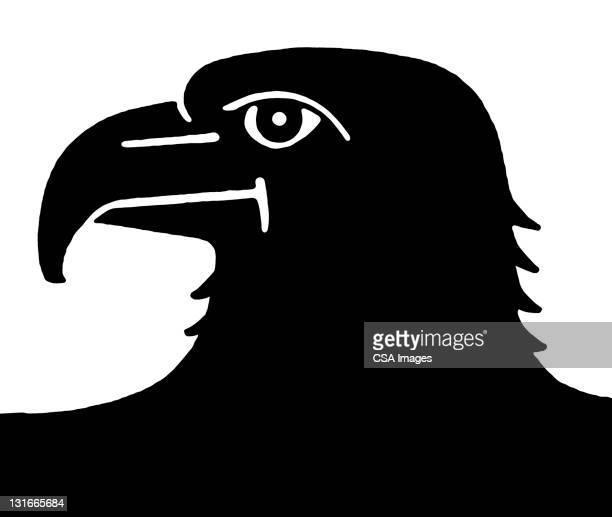 bald eagle profile - bald eagle stock illustrations