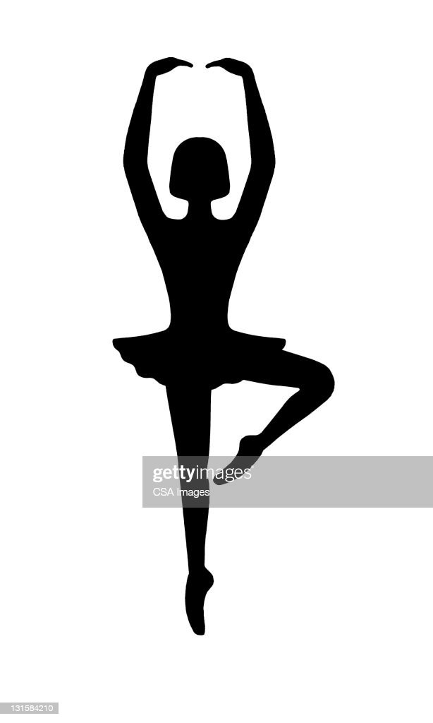 Ballerina Dancing : stock illustration