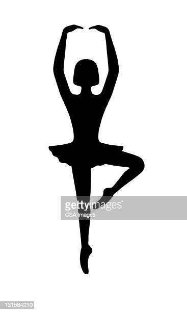 ballerina dancing - one girl only stock illustrations, clip art, cartoons, & icons