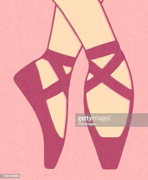 ilustraciones, imágenes clip art, dibujos animados e iconos de stock de ballerina cuadrados - zapatilla de ballet