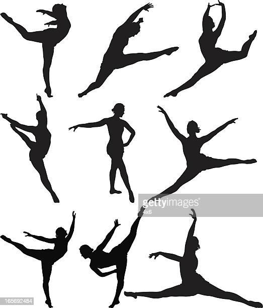 ballerina in action - dancing stock illustrations