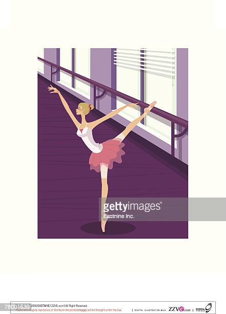 Ballerina in tutu dancing