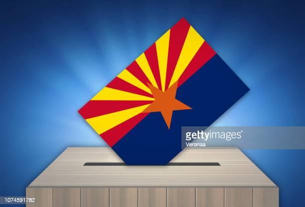 ballot box - election - arizona, usa - arizona stock illustrations