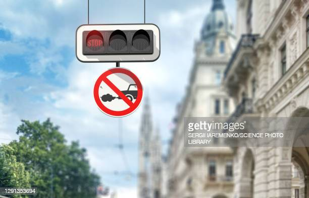 ban on diesel and petrol cars, conceptual image - traffic stock illustrations
