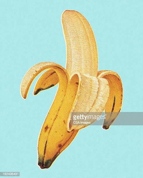 banana - studio shot stock illustrations