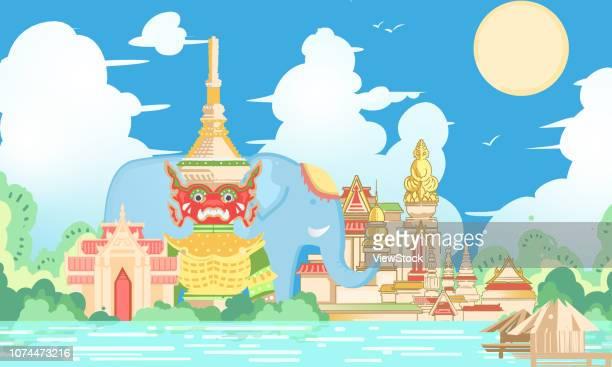 Bangkok synthetic illustration