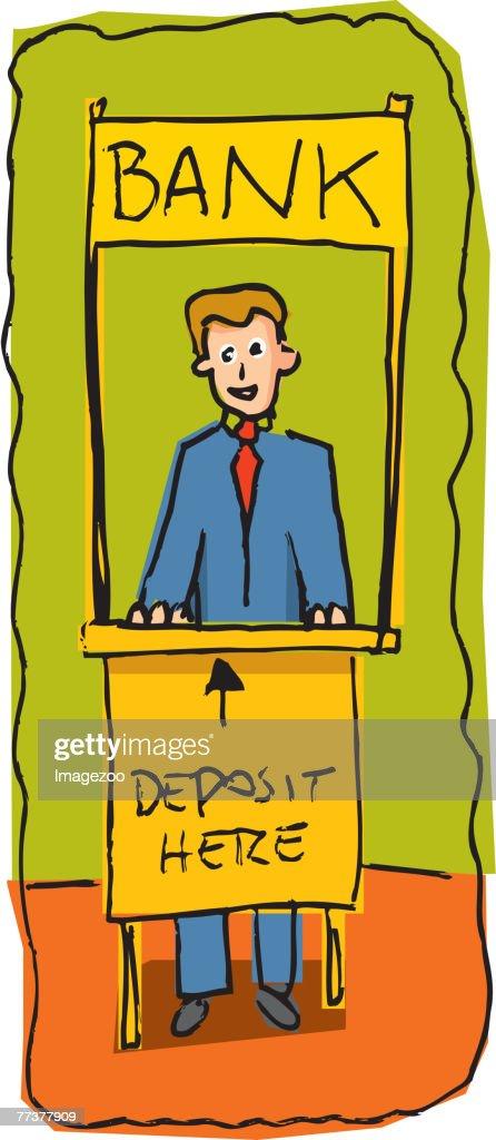 bank teller : Illustration