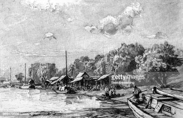 Banks on peï ho river iillustration 1895 'the Earth and her People'