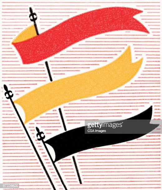 banner flags - pennon stock illustrations