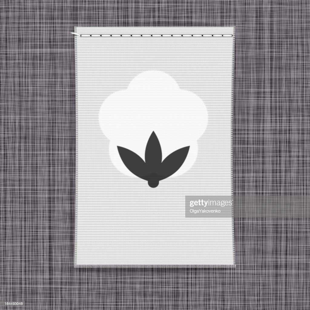 Banner with cotton