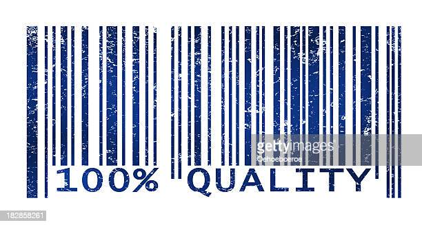 bar code indicating top quality products or services - grunge image technique stock illustrations