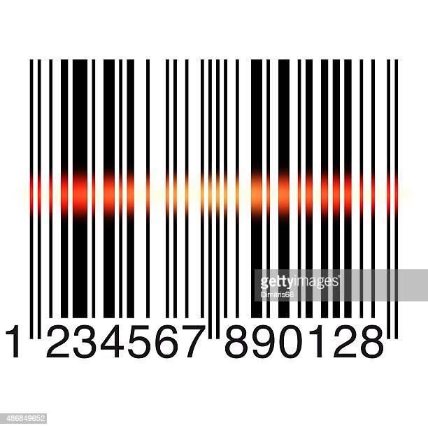 bar code scanning on white - bar code reader stock illustrations, clip art, cartoons, & icons