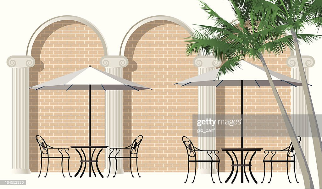 bar tables with porch