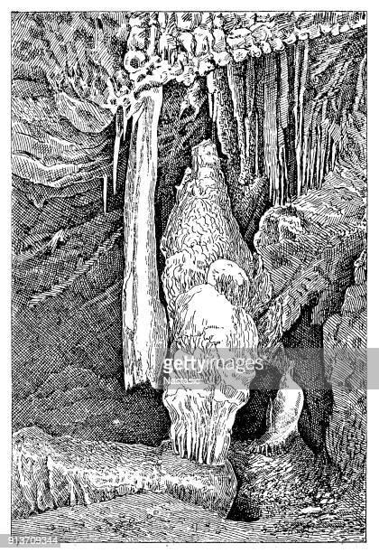 Baradle Cave in Aggtelek National Park in Hungary ,Alabaster column part