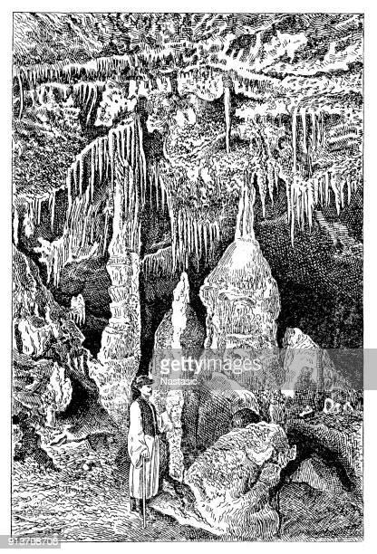 Baradle Cave in Aggtelek National Park in Hungury ,statue of Saint Ladislaus or Saint Ladislas part