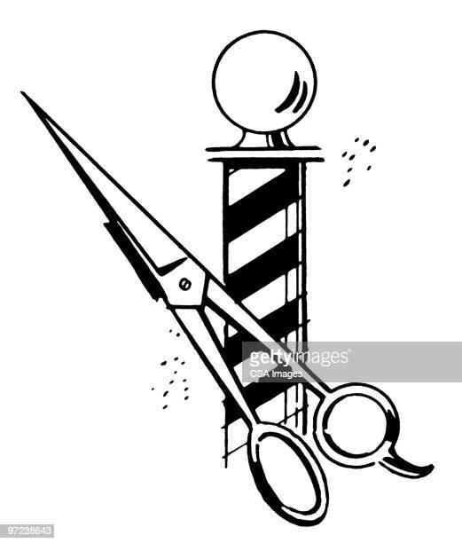 barber Pole and Scissors