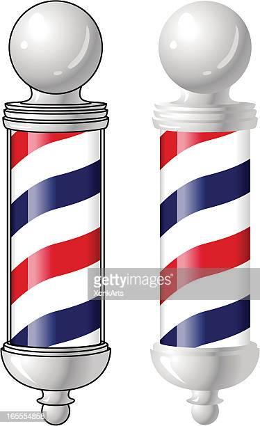 barber pole - barber pole stock illustrations