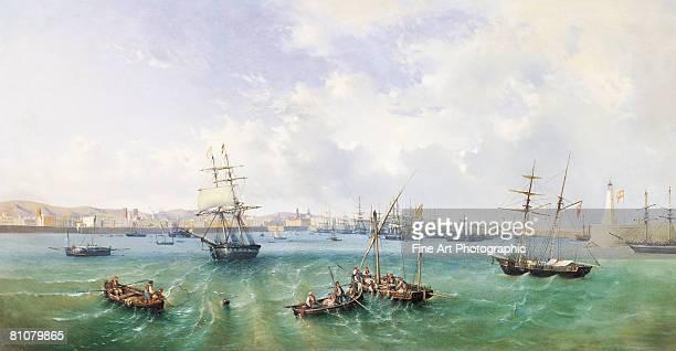 barcelona harbour - 1800~1809年点のイラスト素材/クリップアート素材/マンガ素材/アイコン素材
