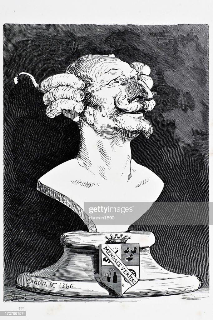 Baron Munchausen : stock illustration