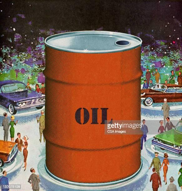 Barrel of Oil at Auto Show