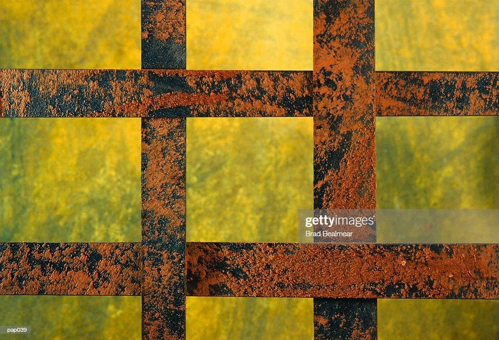 Bars on Yellow-Green Background : Stockillustraties