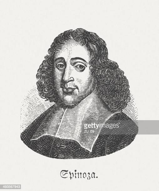 baruch de spinoza (1632-1677), dutch philosopher, published in 1881 - barulho stock illustrations