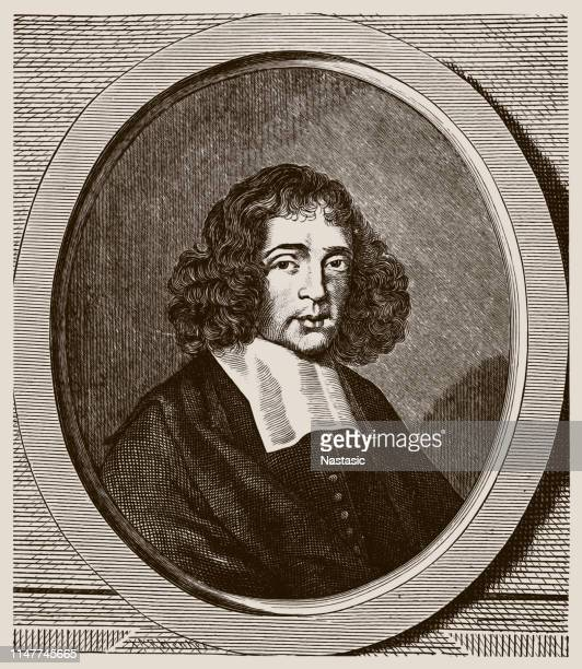 baruch spinoza ,born benedito de espinosa,later benedict de spinoza) was a jewish-dutch philosopher - barulho stock illustrations