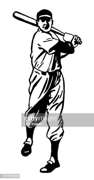 bildbanksillustrationer, clip art samt tecknat material och ikoner med baseball batter - basebollslag