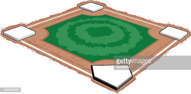 3 d 野球場 - スポーツ ホームベース点のイラスト素材/クリップアート素材/マンガ素材/アイコン素材