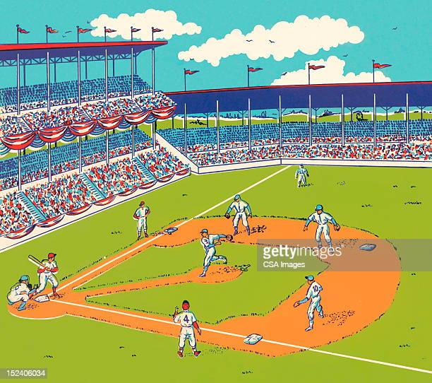 野球の試合 - 野球チーム点のイラスト素材/クリップアート素材/マンガ素材/アイコン素材