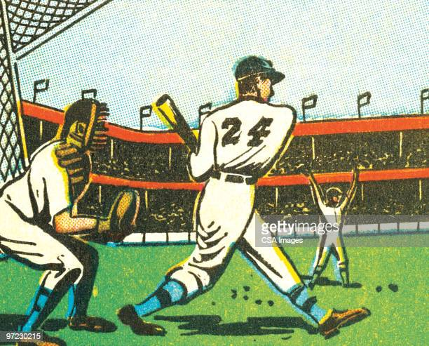 baseball - fan enthusiast stock illustrations