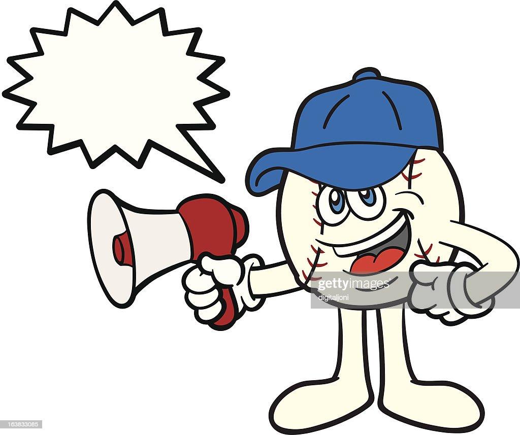 Baseball Mascot With Megaphone