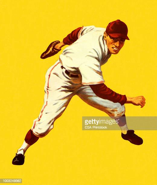 baseball player - baseball player stock illustrations