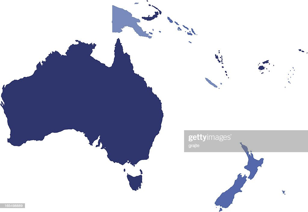 Basic Map of Oceania