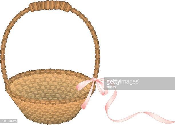 ilustrações, clipart, desenhos animados e ícones de cesta - cesta de páscoa