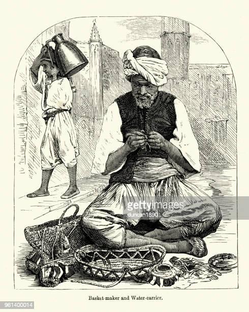 Transporteur de Vannier et eau, Algérie, XIXe siècle