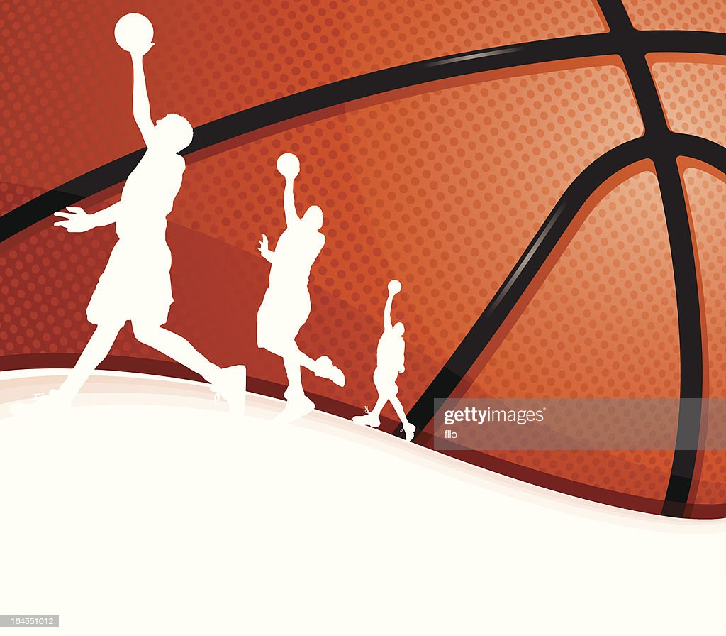 Basketball Background : stock illustration