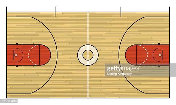 ilustraciones, imágenes clip art, dibujos animados e iconos de stock de basketball court - cancha de baloncesto