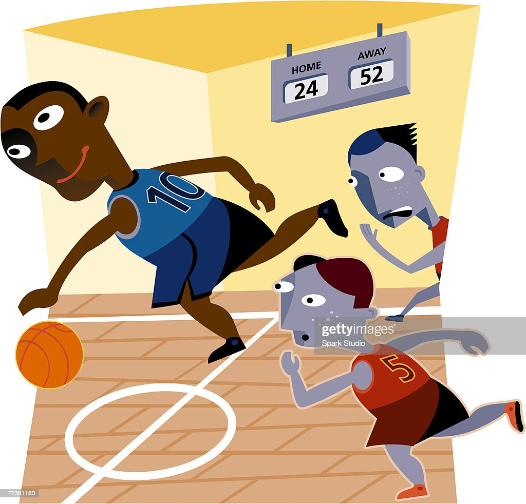 A basketball game in progress : Stock Illustration