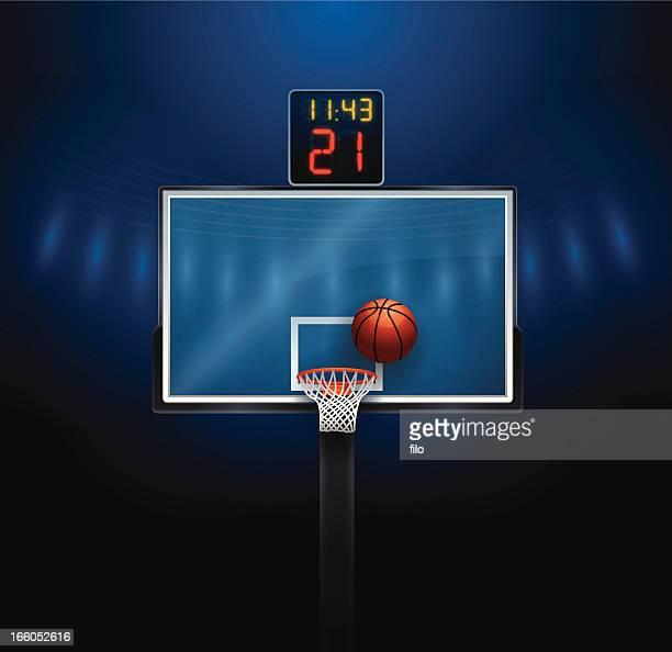 ilustraciones, imágenes clip art, dibujos animados e iconos de stock de canasta de baloncesto - cancha de baloncesto