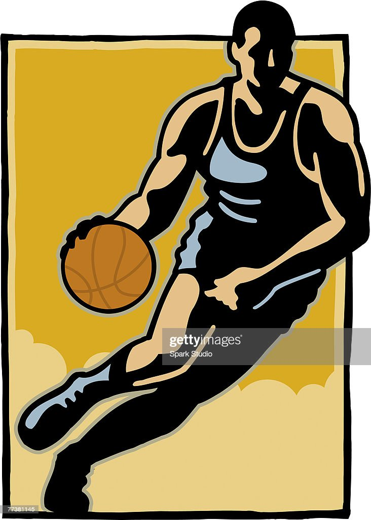 A basketball player in action : Illustration