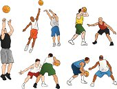 Basketball Players (Vector Illustration)