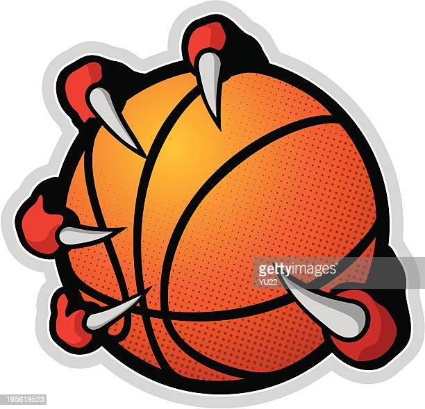 basketball with claws - claw stock illustrations, clip art, cartoons, & icons