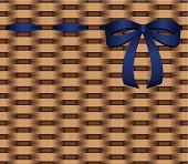 basketwork blue bow